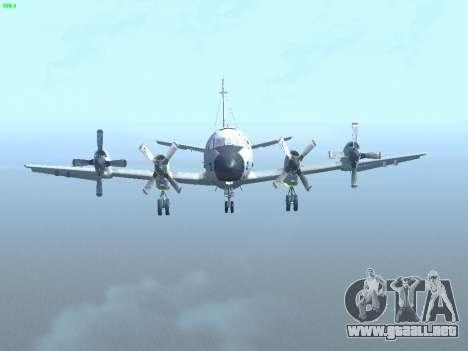Lockheed P-3 Orion FAJ para visión interna GTA San Andreas