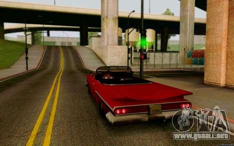 Voodoo Convertible (versión sin luces) para GTA San Andreas left