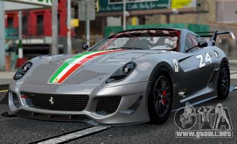 Ferrari 599xx Evoluzione para GTA 4 Vista posterior izquierda