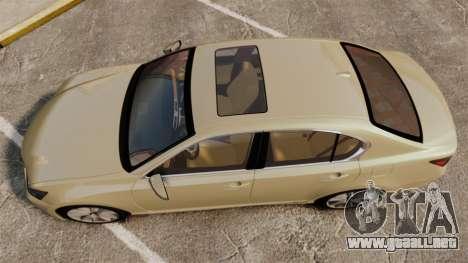 Lexus GS 300h para GTA 4 visión correcta