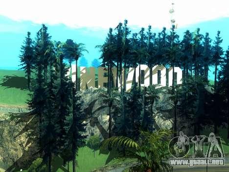 New Vinewood Realistic para GTA San Andreas sucesivamente de pantalla
