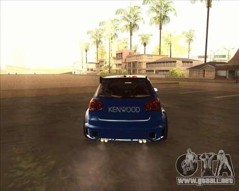Volkswagen Golf из NFS most Wanted para la visión correcta GTA San Andreas