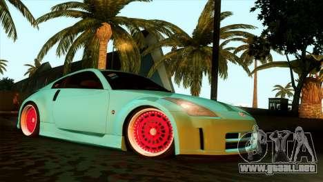 Nissan 350Z Minty Fresh para GTA San Andreas vista hacia atrás