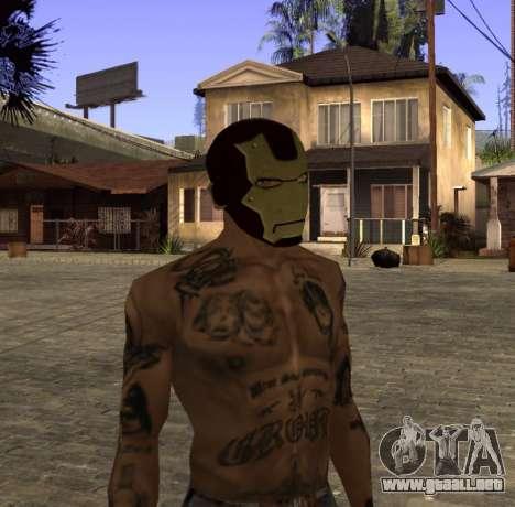 La máscara de Hierro el Hombre de CJ para GTA San Andreas