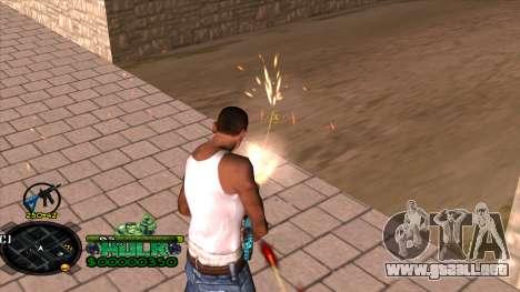 C-HUD Hulk para GTA San Andreas sucesivamente de pantalla