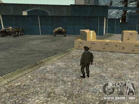 El teniente Coronel de las tropas interiores para GTA San Andreas sucesivamente de pantalla
