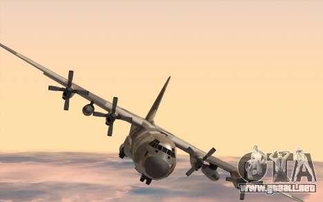 C-130H Hercules para GTA San Andreas vista posterior izquierda