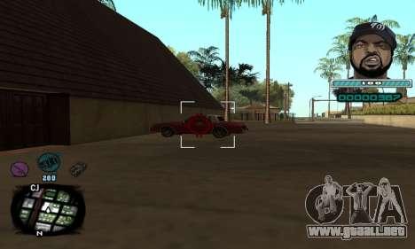 C-HUD Ice Cube para GTA San Andreas tercera pantalla