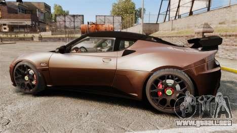Lotus Evora GTE Mansory para GTA 4 left