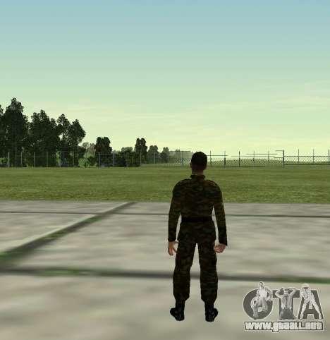 Combatiente del Ejército ruso v 2.0 para GTA San Andreas sucesivamente de pantalla