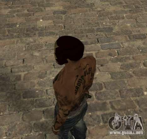 La máscara de Hierro el Hombre de CJ para GTA San Andreas segunda pantalla