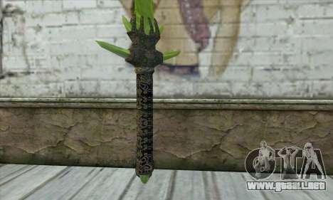 Legendary Crystal Sword para GTA San Andreas segunda pantalla
