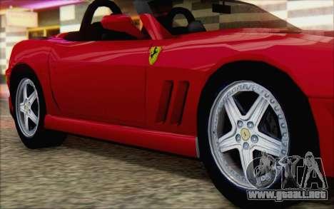 Ferrari 550 Barchetta para la visión correcta GTA San Andreas