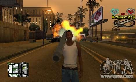 C-HUD New Liberia para GTA San Andreas segunda pantalla
