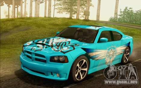 Dodge Charger SRT8 2006 para vista inferior GTA San Andreas