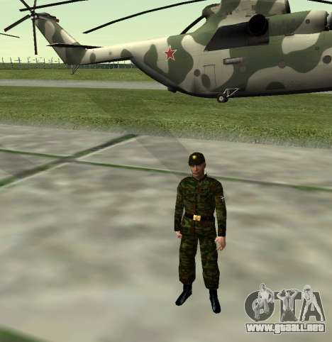Combatiente del Ejército ruso v 2.0 para GTA San Andreas quinta pantalla