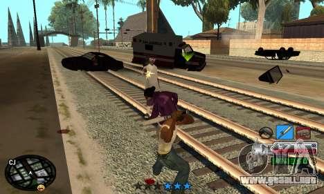 C-HUD Rainbow para GTA San Andreas sucesivamente de pantalla
