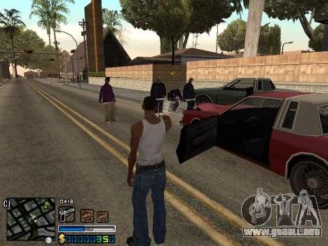 C-HUD By Stafford para GTA San Andreas sucesivamente de pantalla
