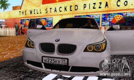 BMW 530xd para vista lateral GTA San Andreas
