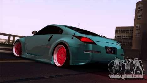 Nissan 350Z Minty Fresh para la vista superior GTA San Andreas