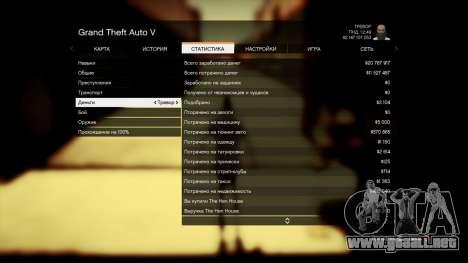 GTA 5 Guardar GTA 5 100% y más de 1 mil millones de PS quinta captura de pantalla
