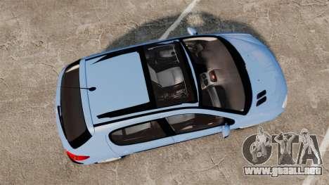 Peugeot 206 para GTA 4 visión correcta