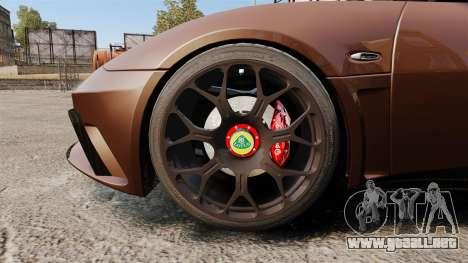 Lotus Evora GTE Mansory para GTA 4 vista hacia atrás