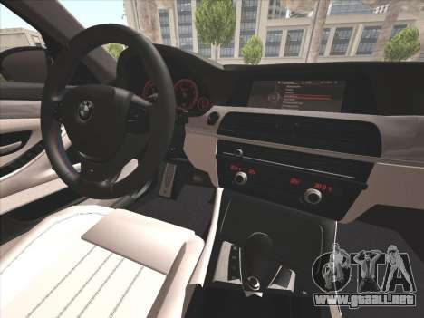 BMW M5 F10 2012 para la vista superior GTA San Andreas