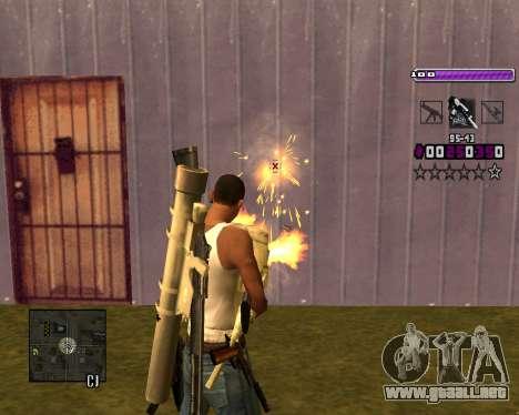 C-HUD Lite v3.0 para GTA San Andreas sexta pantalla