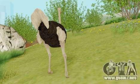 Ostrich From Goat Simulator para GTA San Andreas quinta pantalla