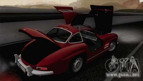 Mercedes-Benz 300SL 1955 para vista lateral GTA San Andreas
