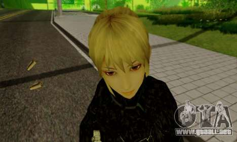 La chica rubia en ropa negra para GTA San Andreas novena de pantalla