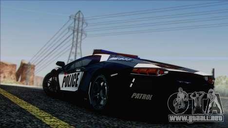 Lamborghini Aventador LP 700-4 Police para el motor de GTA San Andreas