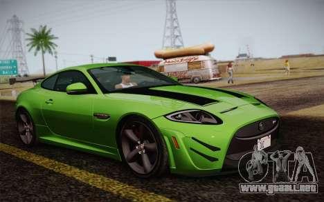Jaguar XKR-S GT 2013 para GTA San Andreas vista posterior izquierda