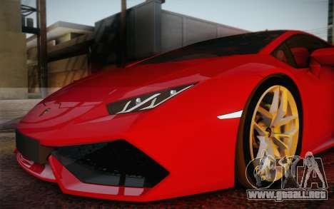 Lamborghini Huracan 2013 para las ruedas de GTA San Andreas