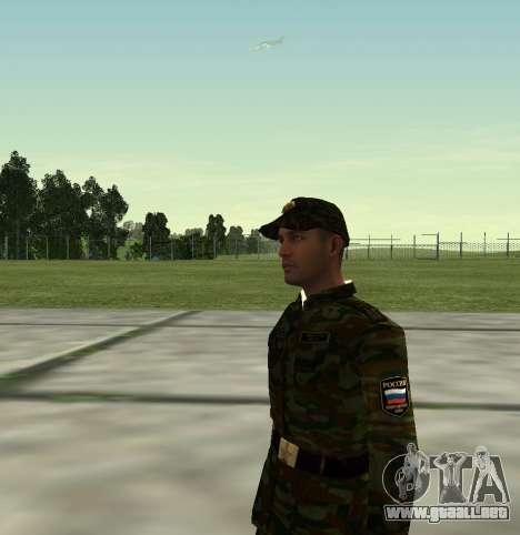 Combatiente del Ejército ruso v 2.0 para GTA San Andreas tercera pantalla