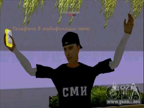 La piel de los trabajadores de los medios para GTA San Andreas tercera pantalla