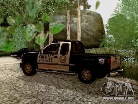Chevrolet Colorado Sheriff para GTA San Andreas left