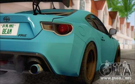 Scion FR-S 2013 Beam para GTA San Andreas vista hacia atrás