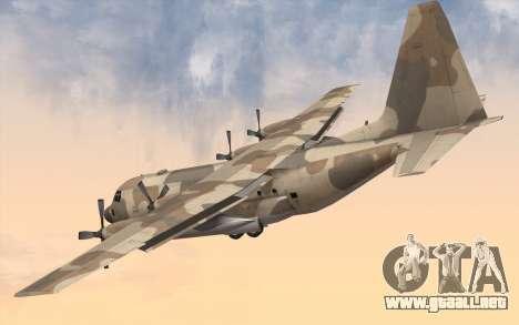C-130H Hercules para GTA San Andreas left