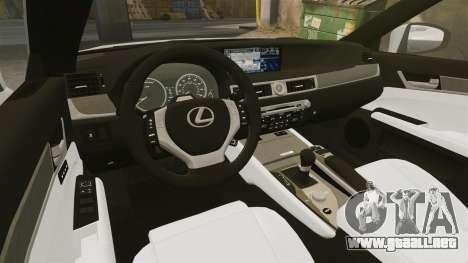 Lexus GS 300h para GTA 4 vista interior