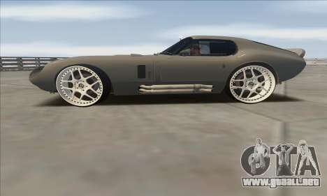 Shelby Cobra Daytona para GTA San Andreas vista posterior izquierda
