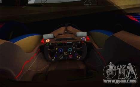 GT Red Bull X10 Sebastian Vettel para visión interna GTA San Andreas