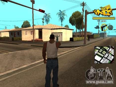Vagos Gang HUD para GTA San Andreas segunda pantalla