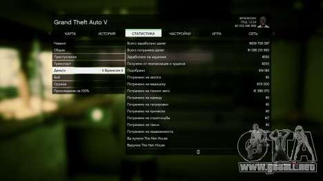 GTA 5 Guardar GTA 5 100% y más de 1 mil millones de PS cuarto captura de pantalla