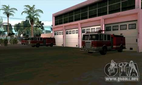 Realista de la estación de bomberos en Las Ventu para GTA San Andreas tercera pantalla