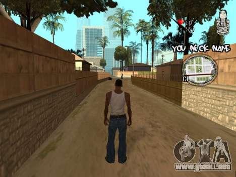C-HUD by San4os para GTA San Andreas segunda pantalla