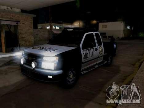 Chevrolet Colorado Sheriff para el motor de GTA San Andreas