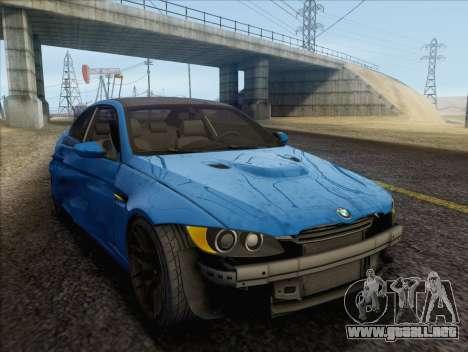 BMW M3 E92 2008 para vista inferior GTA San Andreas