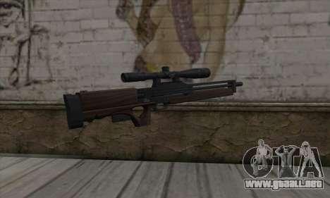 Walther WA2000 para GTA San Andreas segunda pantalla